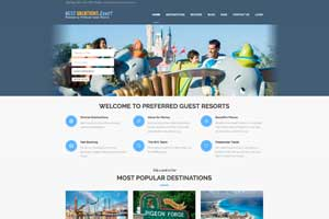 The easy steps to log into your personal account where you can download your BVE vacation details and confirmation letter starts by logging in among the upper right hand corner area, Begin Here - Login, of the bestvacationsever.com home page.